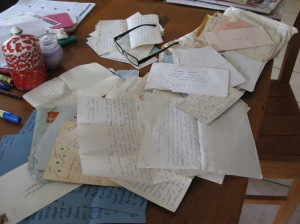 Treasured letters.