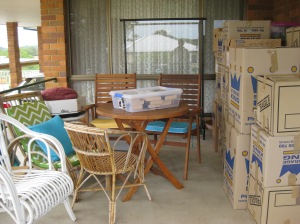 The front porch after the removalists left.