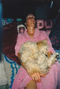 Kate and the dog, after a busy day.